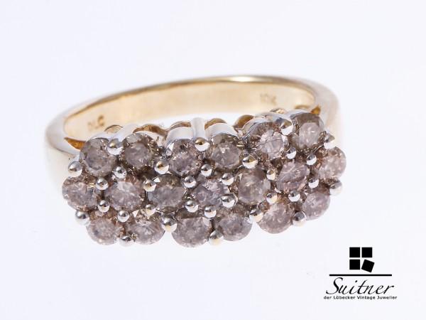 Brillant Ring zus. ca. 1,90 ct 375 Gelbgold Gr. 54