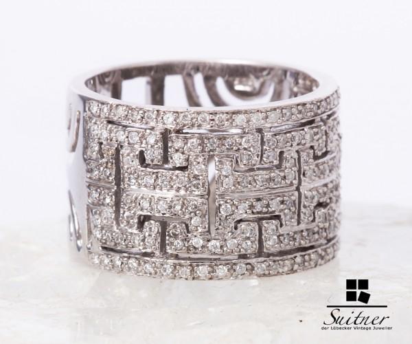 Brillant Ring in Weißgold gefertigt zus. ca. 1,00 ct