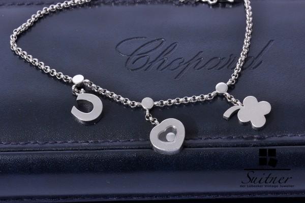 Chopard Armband Happy Diamonds 750 Weißgold Bettelarmband Charm Luxus