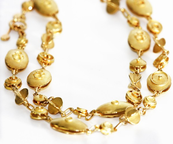 Collier 750 Gold Galerie Kubik Handarbeit Goldschmied
