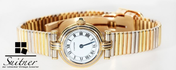 seltene Cartier Vendome Trinity 750 Gold Tricolor Rotgold Weißgold