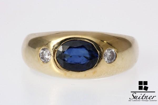 Bandring Saphir Brillant Gold 585 Gr. 49