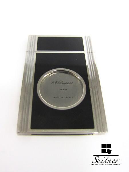 S.T. Dupont Zigarren Schneider Chinalack schwarz Palladium platiniert Etui