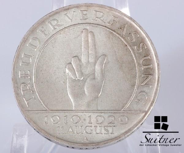 3 Mark 1929 A Schwurhand Hindenburg ss
