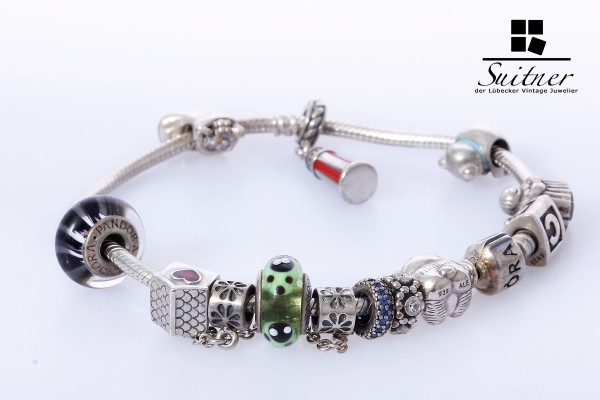 Pandora Armband 12 Elemente 925 Silber Länge 22 cm