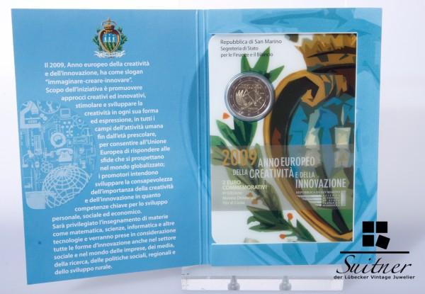 2,- € San Marino 2009 R Originalverpackung Euro im Blister