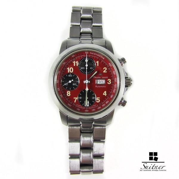 Maurice Lacroix Chronograph Automatik Croneo LES MECANIQUES Rot Red