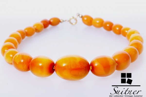 XL Butterscotch Kette Bernstein Oliven Real Amber big Stones Prayer Beads