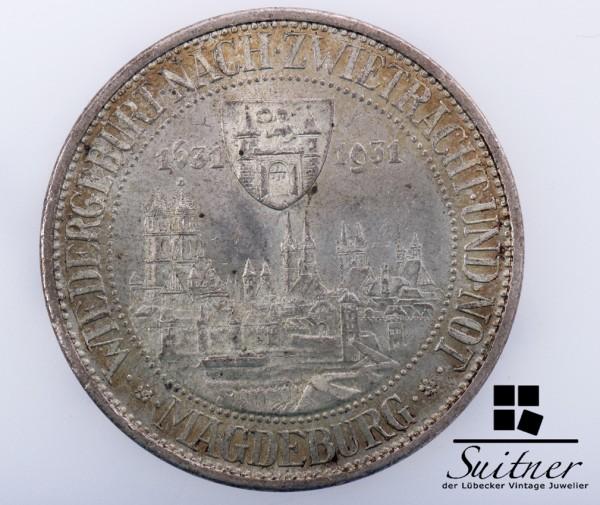 3 Mark Reichsmark Magdeburg 1931 Prägestätte A SS