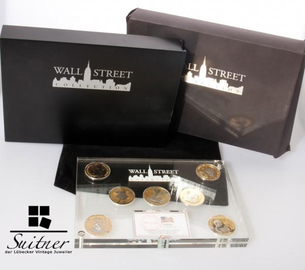 The Wall Street Collection 2015 Silber 7 Unzen Yuan Dollar Krügerrand Maple Gold