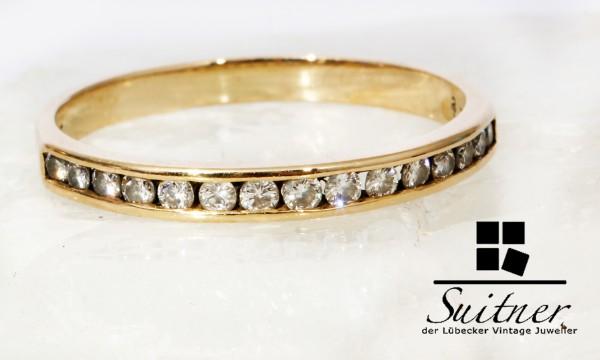 moderner Bandring mit Brillanten 585 Gold Memory Eternity Ring