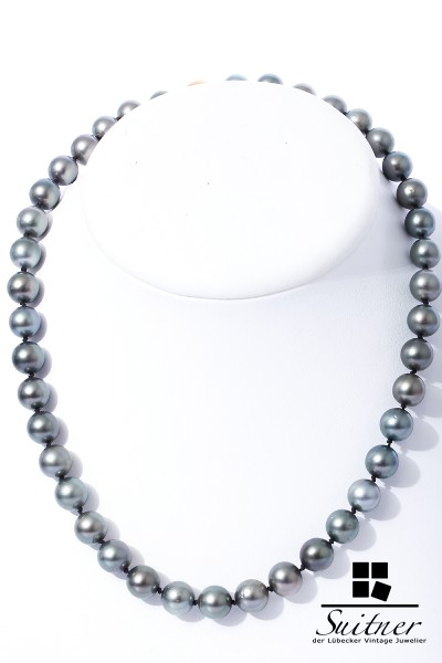 Tahiti-Perlenkette 8,5-9 mm 750 Gold Schließe
