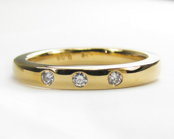0,09 ct. Diamant Ring Vorsteckring Bandring Brillant 750 Gold Gr. 53 Verlobung
