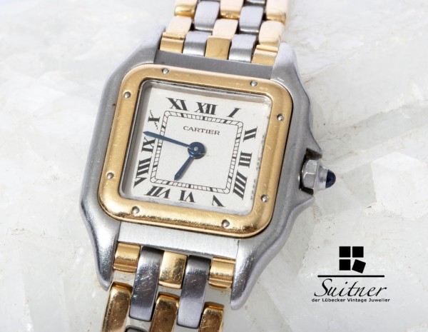 Cartier Panthere Stahl Gold Lady - 3 Reihen Gold - Luxusuhr