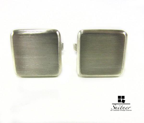 Manschettenknöpfe Silber 925 quadratisch