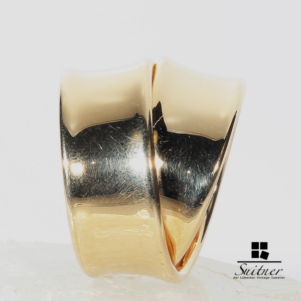 luxuriöser Design Ring extra Breit