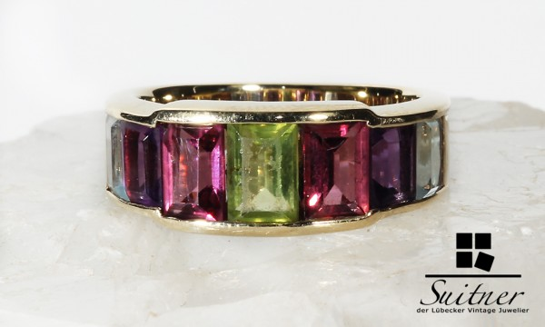 Multicolor Ring Turmaline