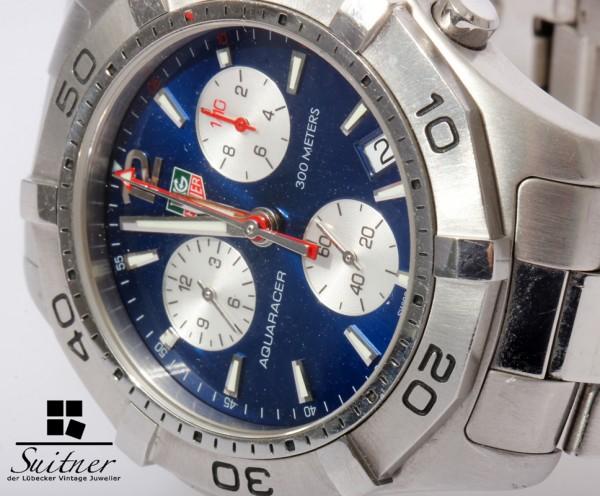 Tag Heuer Aquaracer Chronograph Stahl blaues Zifferblatt - 300m