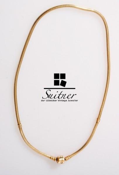 Pandora Collier 585 Gold Kette Schlangenkette massiv 42cm