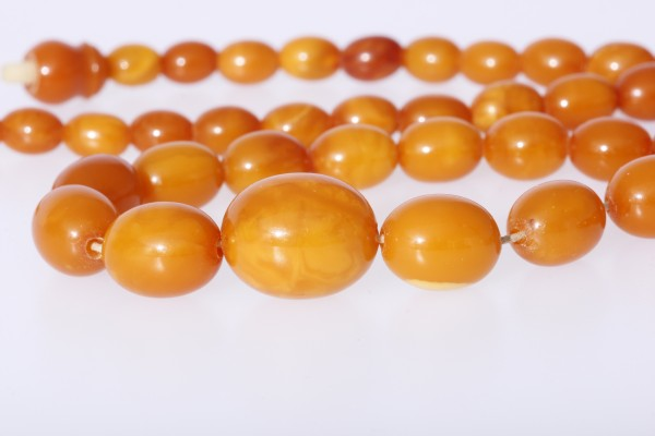 Butterscotch Kette real Amber Prayer Beads - tolle Oliven