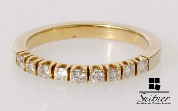 Klassiker Memory Ring aus 585 Gold mit 9 Brillanten - 0,27ct. Unikat