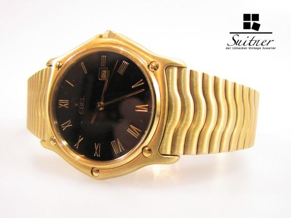 neuwertige Ebel 1911 Wave massiv 750 Gold Ref 883903 NOS Unisex