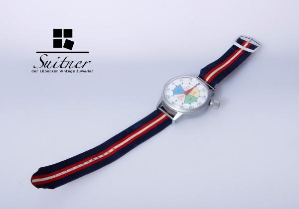 Vintage Heuer Yacht-Timer Stopwatch - ca. 1972 mit original Armband