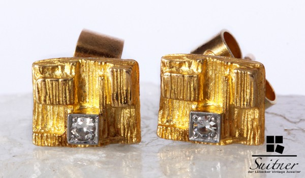 Lapponia Ohrstecker Björn Weckström mit Brillanten aus 750 Gold