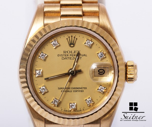 Rolex Ladydate Datejust 750 Gold Diamanten Ref. 69178