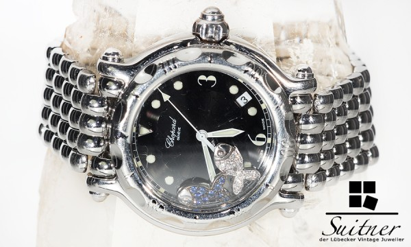 Chopard Happy Fish in Stahl mit Diamanten