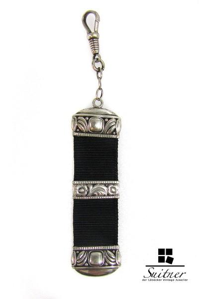 Chatelaine Uhrenkette Jugendstil antik 800 Silber