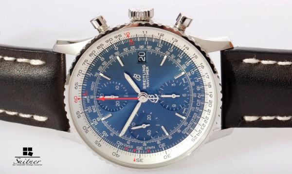 neue Breitling Navitimer 41 Blue A13324 Chronograph mit Box und Papieren