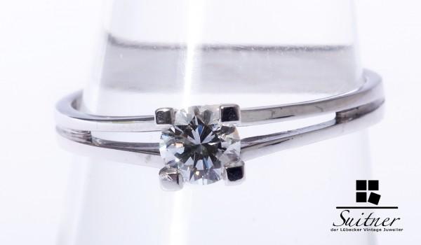 Brillant Ring mit ca. 0,38 ct 585 Weißgold