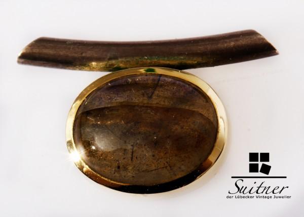 Anhänger Labradorit 585 Gold 925 Silber Goldschmiedearbeit Schieber