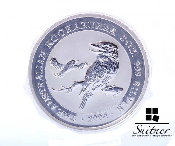 Australien 2 Dollar 2Oz 999 Silber Kookaburra 2004 PP