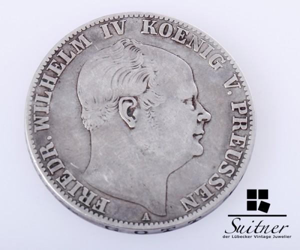 1 Thaler Preussen 1859 Mansfeld Prägestätte A ss