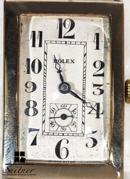 Rolex Vintage Rectangular Uhr Bj. 1938 aus Gold Ref. 829 like Prince
