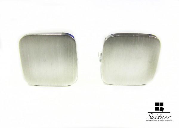 Manschettenknöpfe Silber 935 quadratisch satiniert
