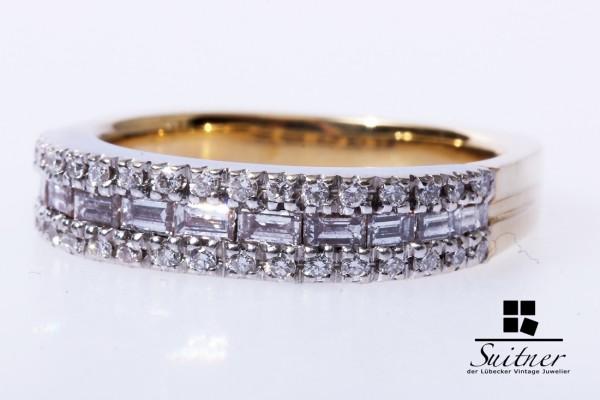 wertvoller Brillant Diamant Ring zu. ca. 0,56 ct. 750 Gold / Weißgold Gr. 54
