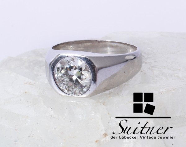 Brillant mit 2.65ct in Platin Ring Gr. 59 Top Wesselton G-H Diamant