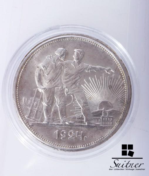Russland 1 Rubel 1924 VZ Russia Münze Coin
