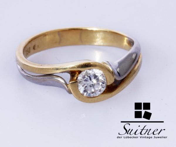 Brillant Ring 0,36 ct TW aus 750 Gold Gr 52 mit Zertifikat Design