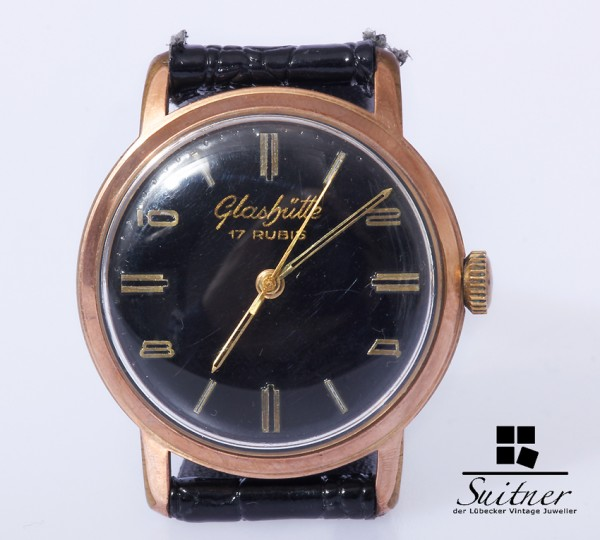 Glashütte GuB Vintage Herren Uhr Handaufzug Kaliber 70.1 gangfähig