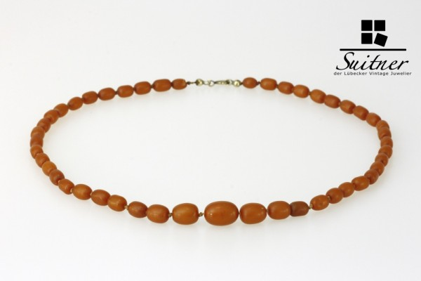 Bernstein Kette antik Oliven Amber Prayer beads