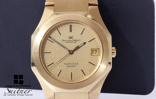 IWC Yacht Club II 750 Gold massiv Quarz Kaliber 2405 XL 181 Gramm