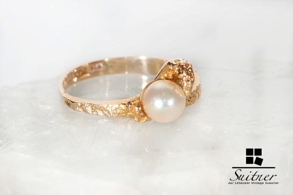 Original Lapponia Perlen Ring aus Gold 585 Weckström Luxus aus Finnland