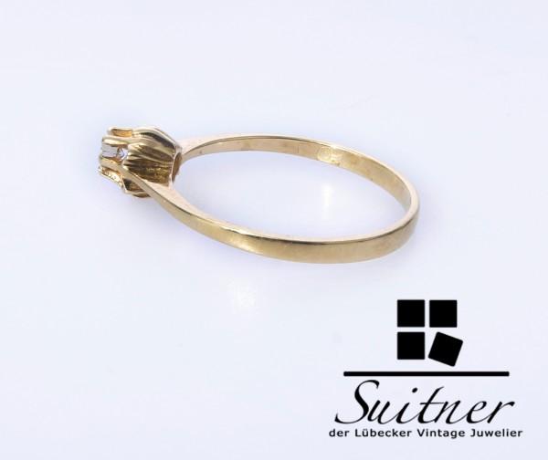 klassischer Verlobungsring mit Brillant Ring 585 Gold Größe 53,5