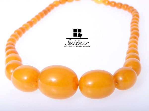 Bernstein Butterscotch XL Prayer Beads Honey real Amber 37,5 gr.