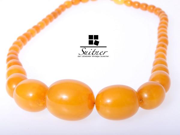 Bernstein Butterscotch XL Prayer Beads Honey real Amber 37,5 gr.