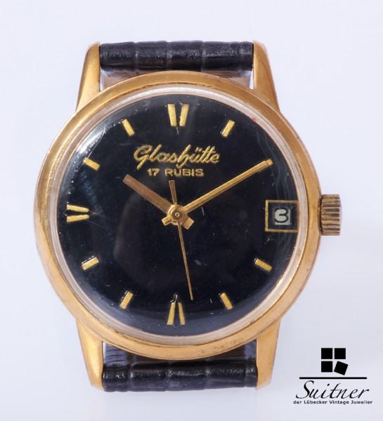 Glashütte GuB Herren Vintage Uhr Kaliber 69.1 Handaufzug gangfähig
